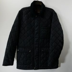 NWT Coach Zip Button Up Quilted Jacket Size S